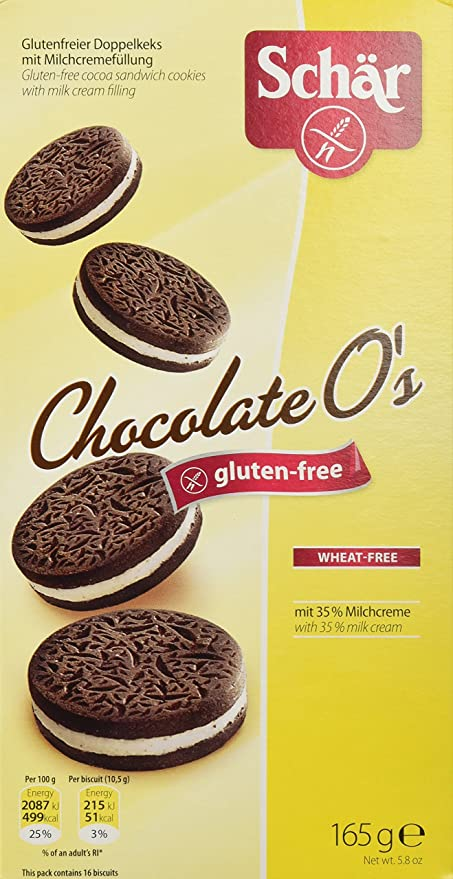 Dr. Schar Chocolate Os galletas 165 gr