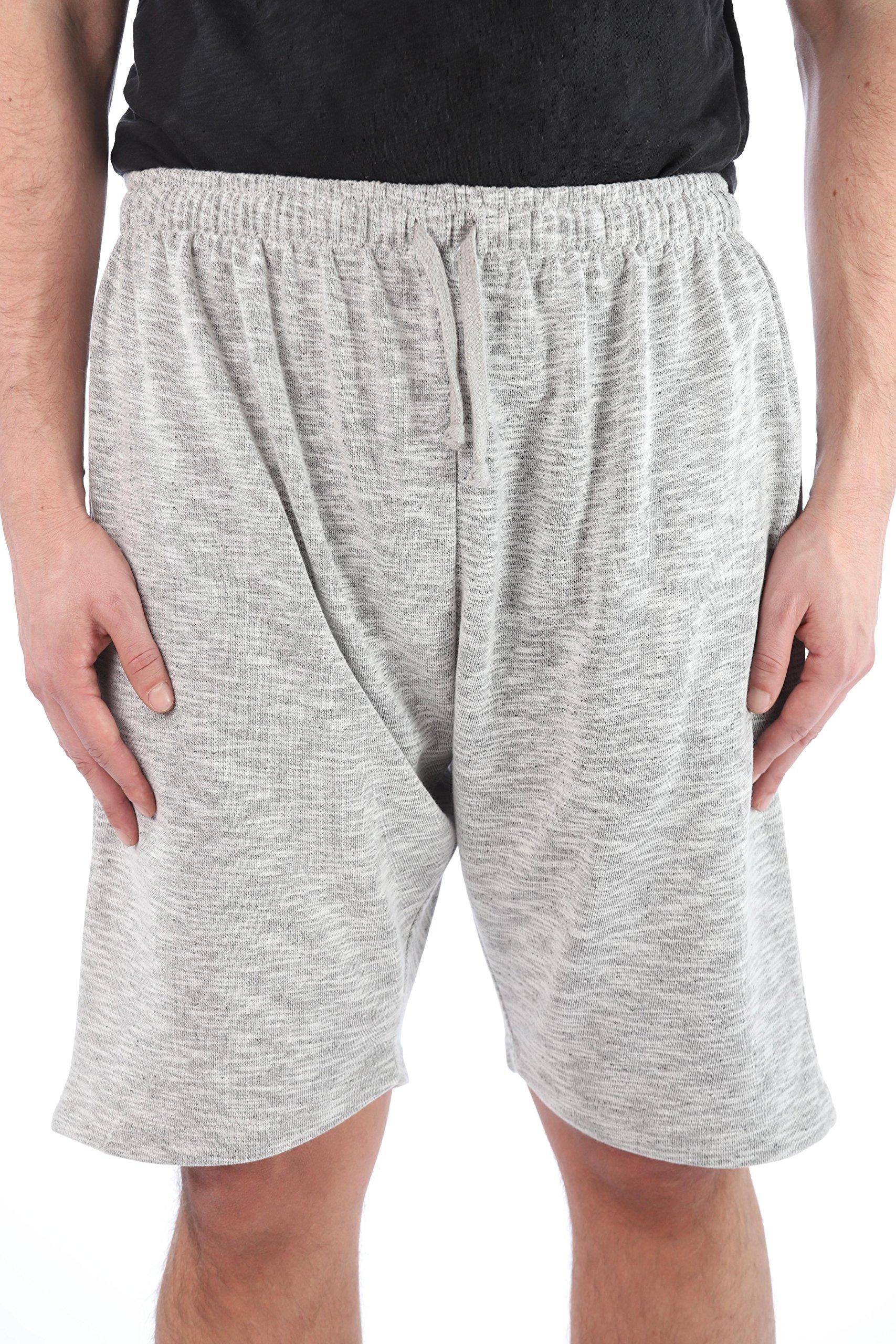 At The Buzzer Men's Sweat Shorts Sleepwear PJs 14502-OAT-M