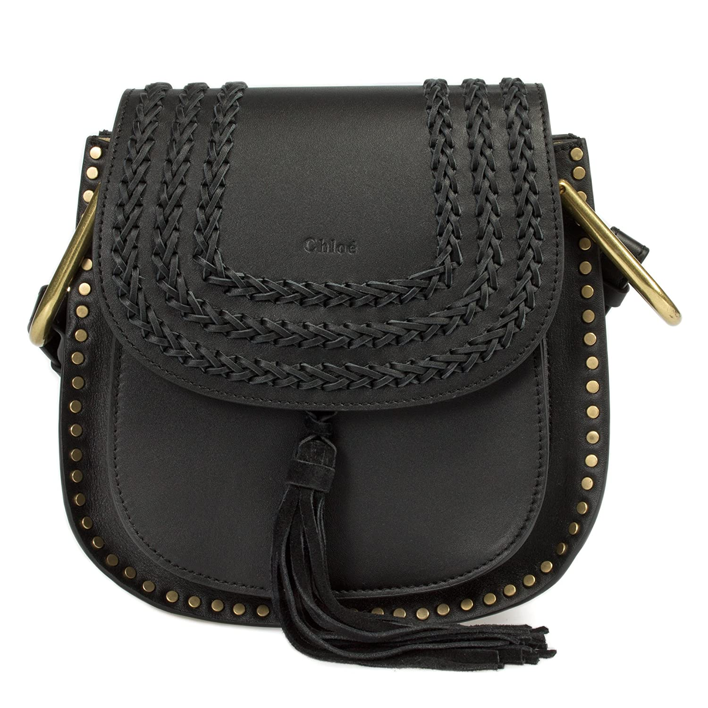 Chloe Women's Hudson Calfskin Shoulder Bag, Black