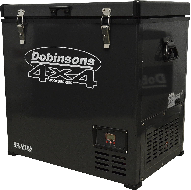 Dobinsons 4x4 80 Liter Dual Zone 12V Portable Fridge Freezer, Freezes and Refrigerates at Same time