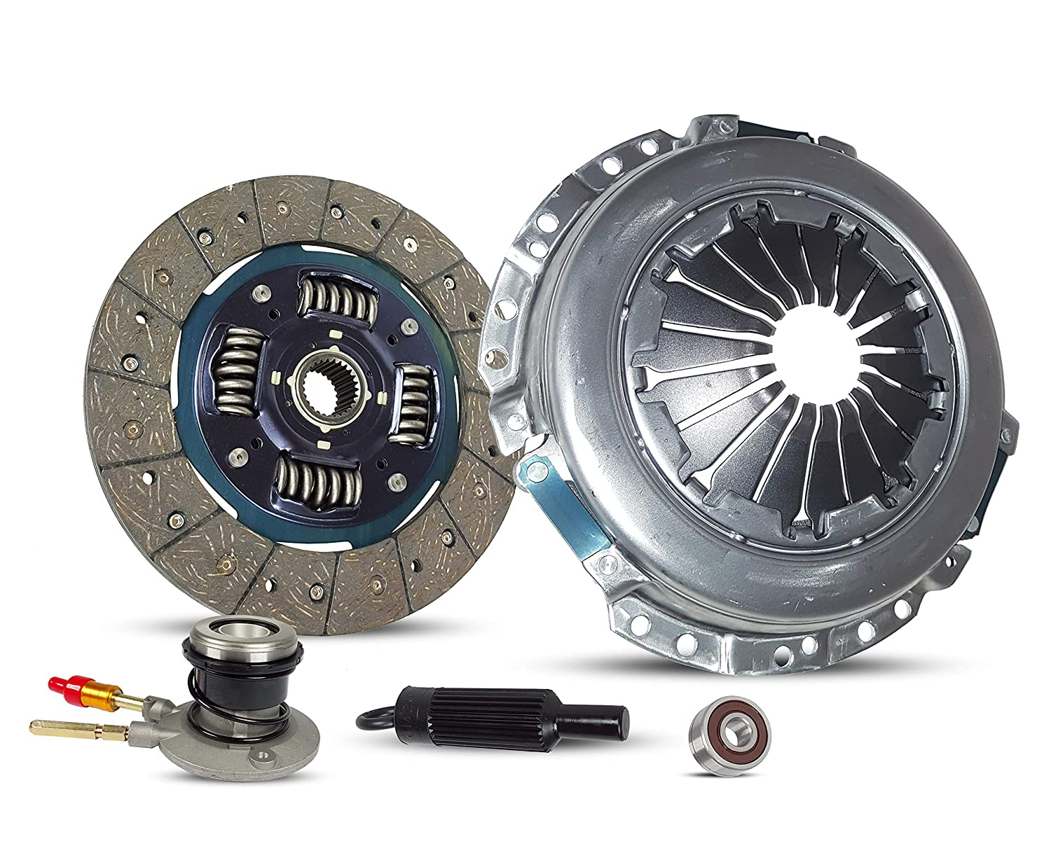 Clutch With Slave Kit Works With Gmc Canyon Chevrolet Colorado Canyon Isuzu I-280 I-290 Z71 Z85 SL SLE SLT WT Extended Fleet 2004-2012 2.8L 2770CC 169Cu. In. l4 GAS DOHC Naturally Aspirated Southeast Clutch