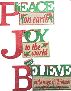 3 Peace Wall Hanging Christmas Sentiment Signs.