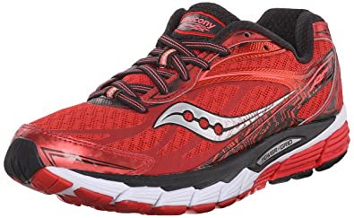 Saucony Women's Ride 8 Running Shoe, Red/Black, ...