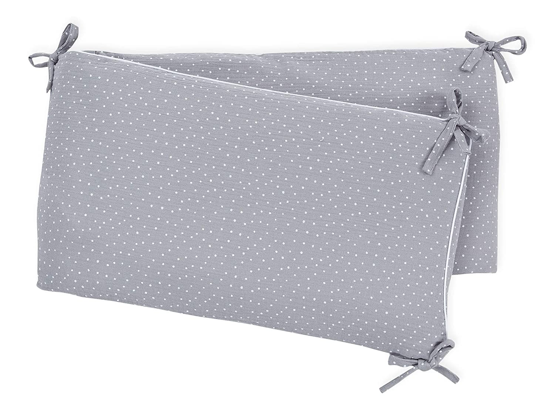 f Bett-Umrandung f/ür Baby-Bett pass Bettgr/ö/ße 120 x 60 cm Baby-Nest mit separatem Au/ßenbezug KraftKids Nestchen Musselin blau