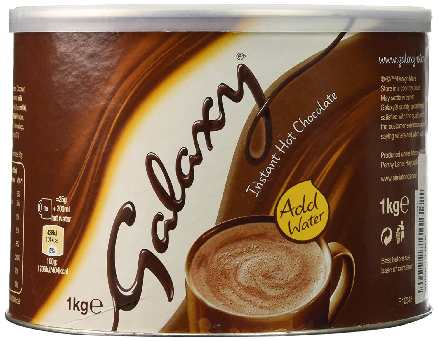 Amazon.com : Galaxy Instant Hot Chocolate Drink 1000g : Hot Cocoa ...
