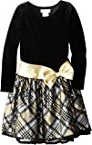 Bonnie Jean Big Girls' Velvet To Taffeta Dress