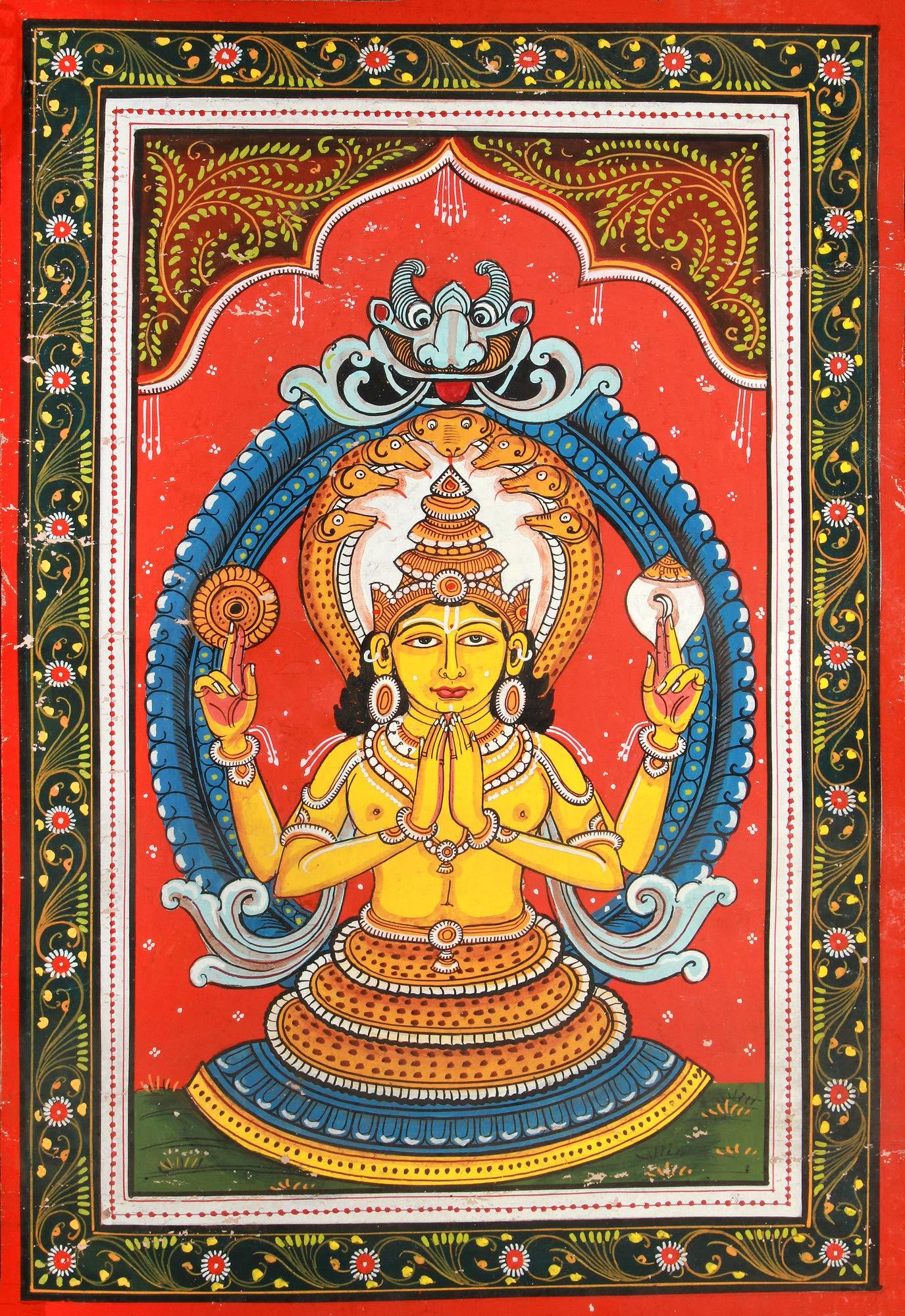 Exotic India Patanjali - Watercolor on Patti - Artist: Rabi Behera