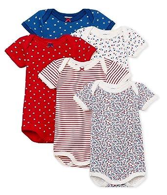 c6784a898 Petit Bateau Body (Lot de 5 Bébé Fille: Petit Bateau: Amazon.fr: Vêtements  et accessoires