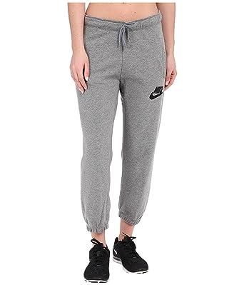4e63ae375cb8 Nike Women s Rally Capris Carbon Heather Cool Grey Black LG X 23 at Amazon Women s  Clothing store