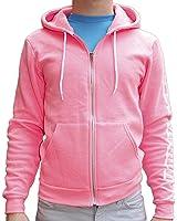 Neon Hot Pink American Apparel Flex Fleece Zip up Hooide Sweatshirt