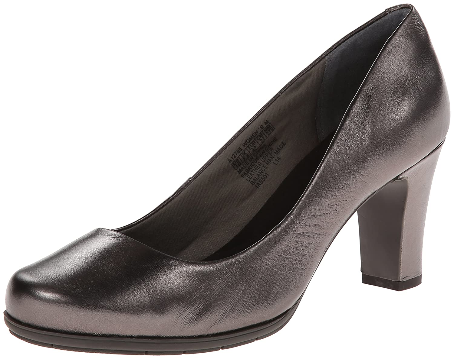 Pewter Smooth Leather Rockport Women's Total Motion Pump
