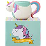 3D Unicorn Mug (12 oz) Ceramic With Rainbow Gift Box - Perfect Tea And Coffee Mugs For Gifts Microwave and Dishwasher Safe by Prana Products