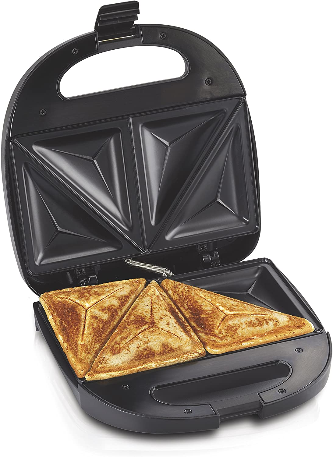 Amazon Com Hamilton Beach Sandwich Maker Makes Omelettes And Grilled Cheese 4 Inch Easy To Store 25430 Black Kitchen Dining