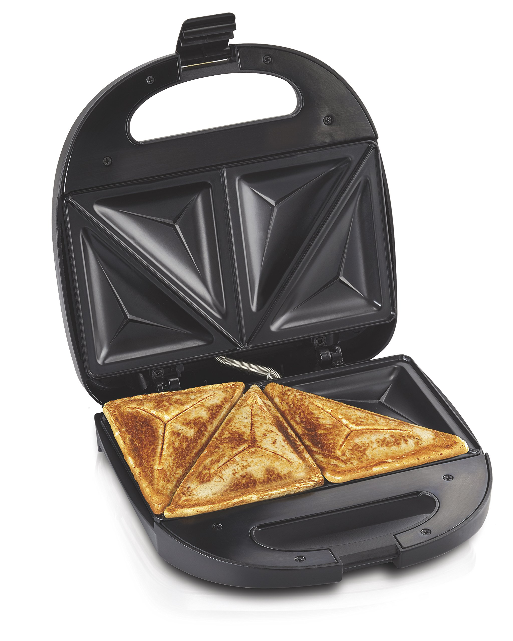 Hamilton Beach Sandwich Maker, Makes Omelettes and Grilled Cheese, 4 Inch, Easy to Store (25430), BLACK by Hamilton Beach