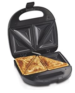 "Hamilton Beach 25430 Sandwich Maker, 4"", Black"