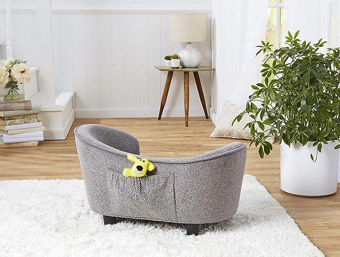 Amazon.com: Sofá para mascotas Enchanted Home Snuggle – gris ...