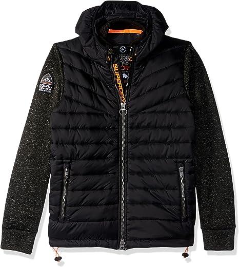 Superdry Men/'s Storm Hybrid Zip Jacket Black