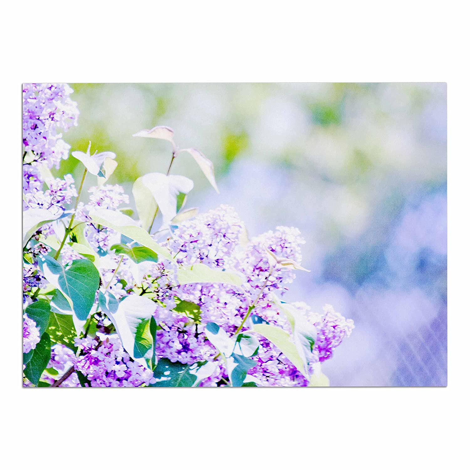 KESS InHouse Sylvia Coomes Hazy Purple Flowers  Lavender Nature Dog Place Mat, 13  x 18