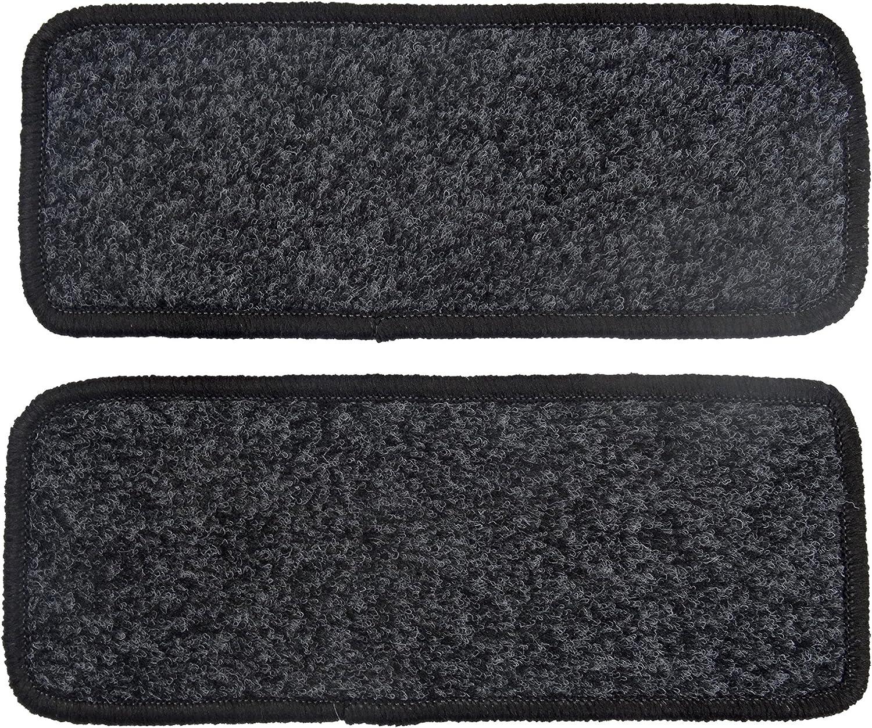 Alpha-Tex Fu/ßmatte 1614 2 Einstiegsmatten in Qualit/ät Classic Anthrazit, Umrandung Beige Autoteppich