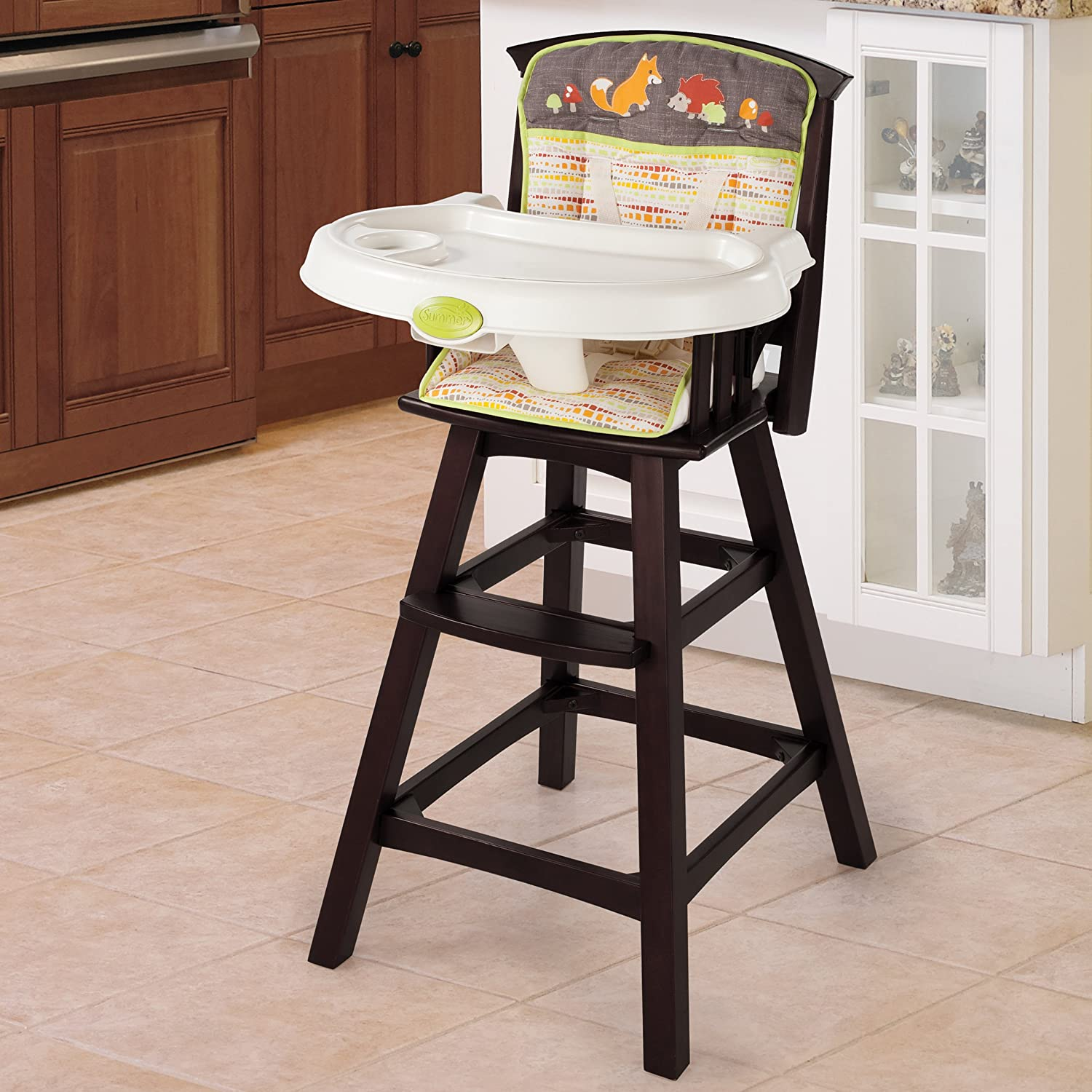 amazon com summer infant classic comfort wood high chair fox