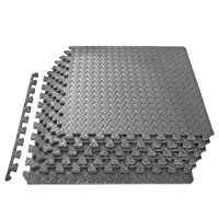 """ProsourceFit Puzzle Exercise Mat ½"""", EVA Foam Interlocking Tiles Protective Flooring for Gym Equipment and Cushion for Workouts"""