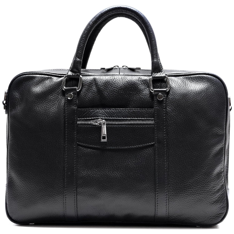 Floto Toscana Slim Brown Briefcase Attache Lap-top Case