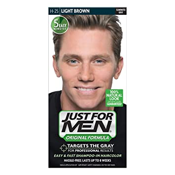 Amazon.com : Just For Men Shampoo-In Hair Color, Light Brown ...