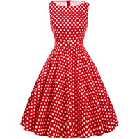 Grace Karin 1950s Vintage Hepburn Style A-line Cotton Swing Dress 30Colors XS~Plus Size 4X