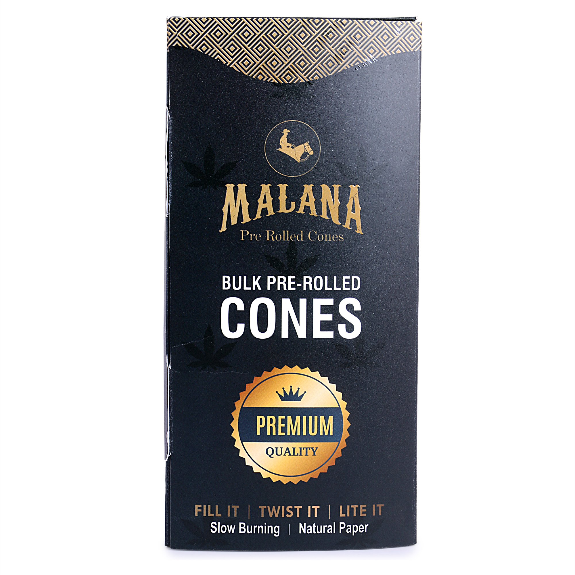 Malana Pre Rolled Cones - King Size 800 Count (Natural Brown Paper) 109/26