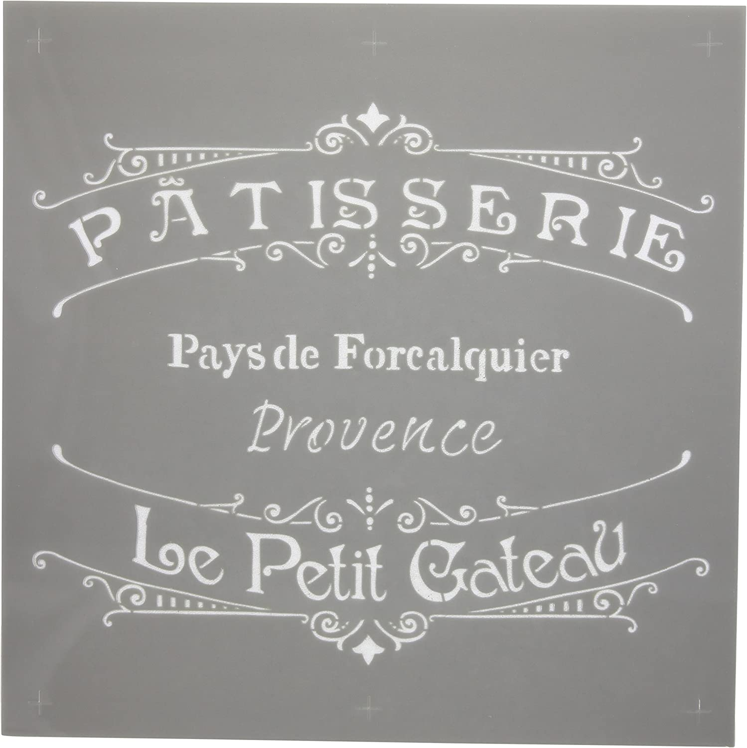 DecoArt Deco Art Americana Decor Stencil, The French Bakery, 1 Pack