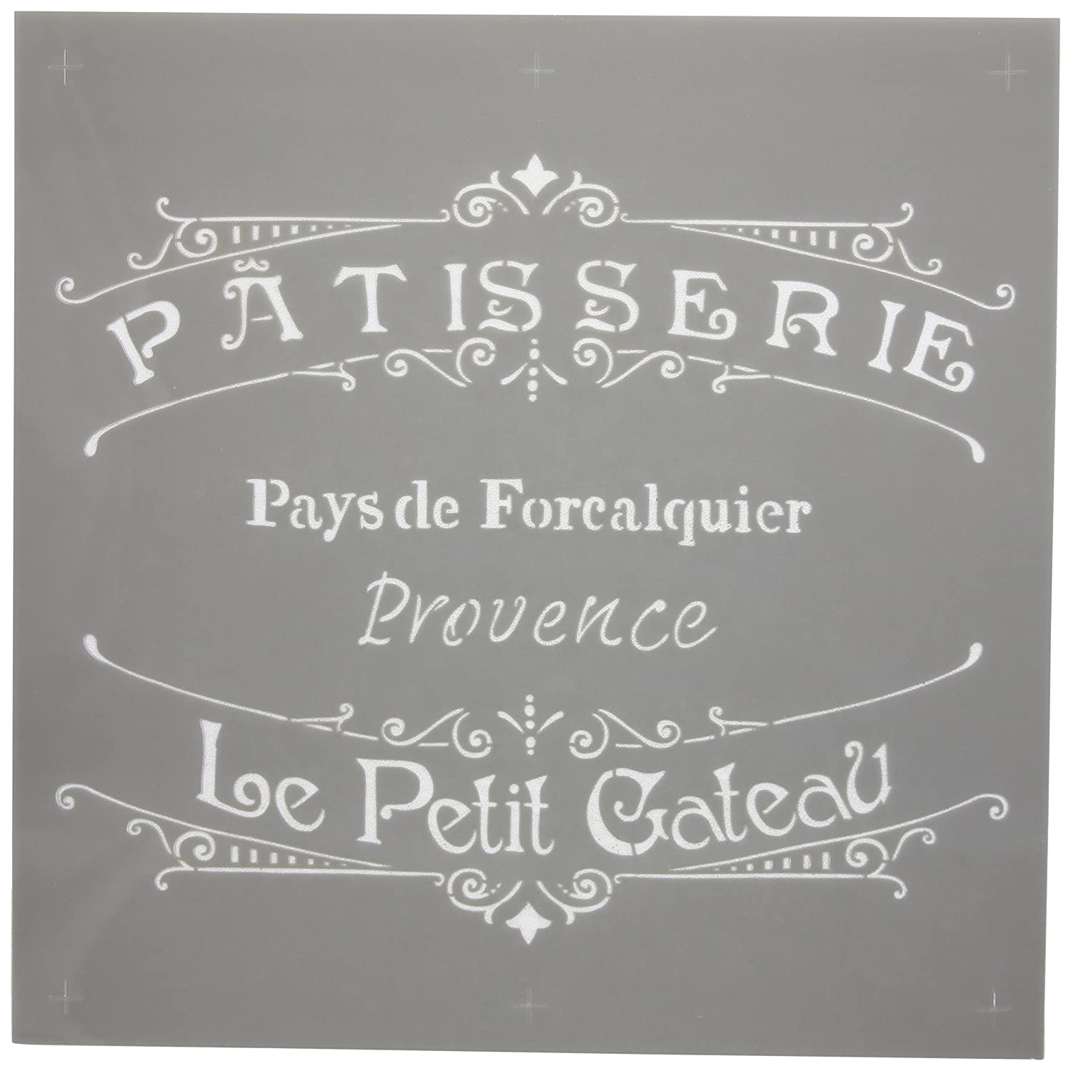 Deco Art Plastic Americana Stencil 12-inch x 12-inch-The French Bakery ADS-11