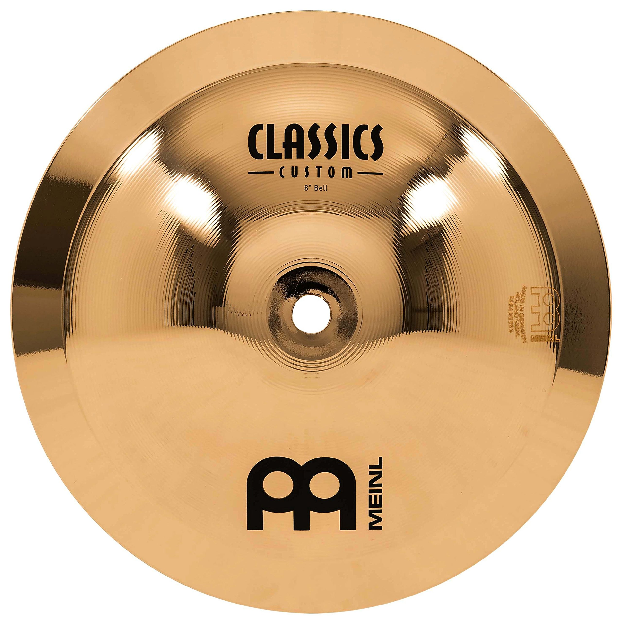 Meinl 8'' Bell - Classics Custom Brilliant - Made In Germany, 2-YEAR WARRANTY (CC8B-B) by Meinl Cymbals
