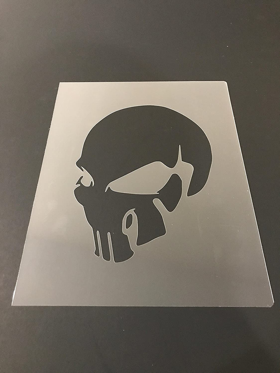 Skull Stencil #15 Reusable 10 mil Thick 7in x 9in sheet