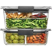 Rubbermaid Brilliance Food Storage Container, Salad and Snack Lunch Combo Kit, Clear, 9-Piece Set,(1997843)