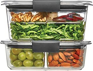 product image for Rubbermaid Brilliance Food Storage Container, Salad and Snack Lunch Combo Kit, Clear, 9 Piece Set 1997843