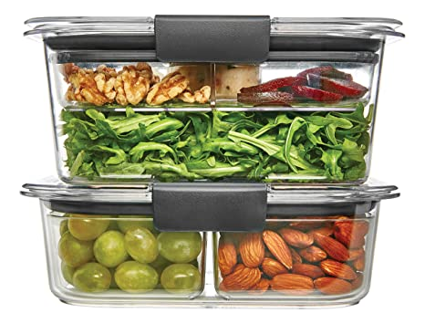 Rubbermaid Brilliance Food Storage Container Salad and Snack Lunch Combo Kit Clear 9  sc 1 st  Amazon.com & Amazon.com: Rubbermaid Brilliance Food Storage Container Salad and ...