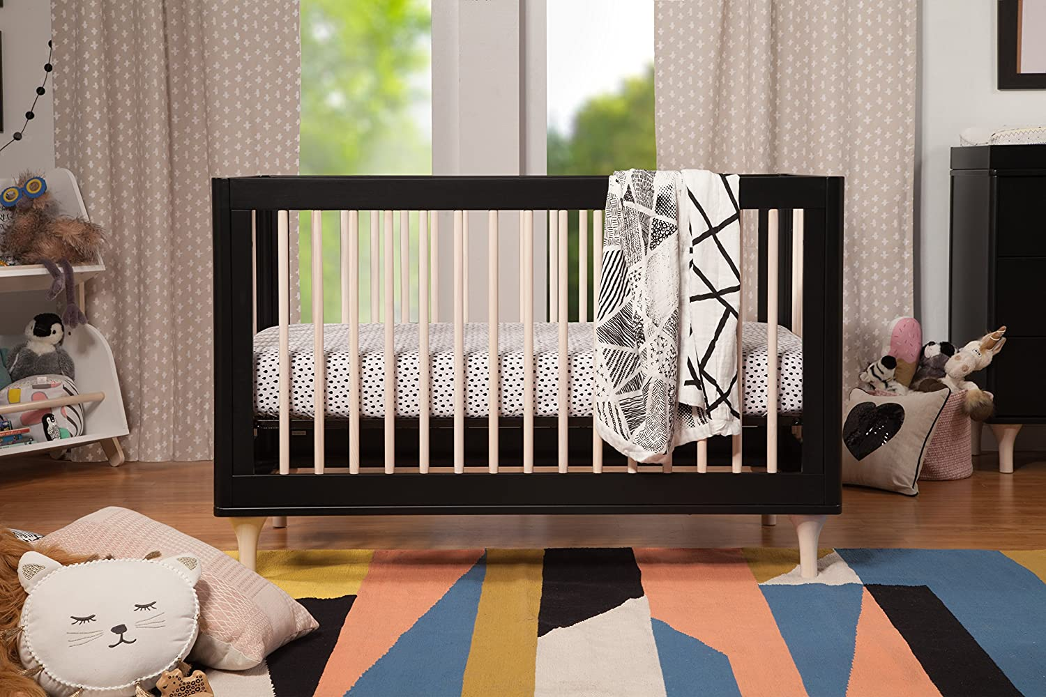 amazoncom babyletto lolly 3in1 convertible crib with toddler bed conversion kit baby