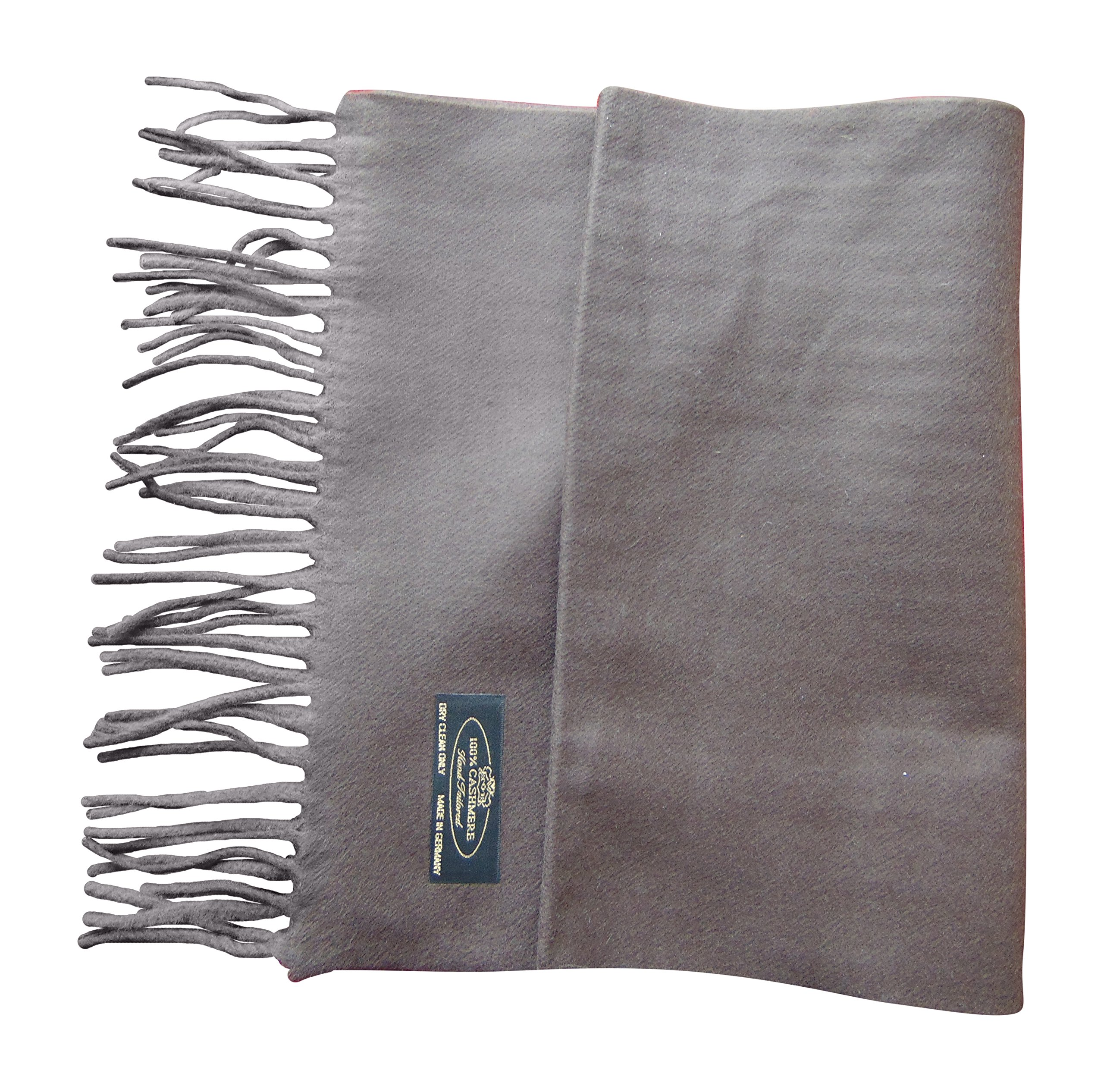 Annys Super Soft 100% Cashmere Scarf 12 X 72 with Gift Bag (Dark Brown)