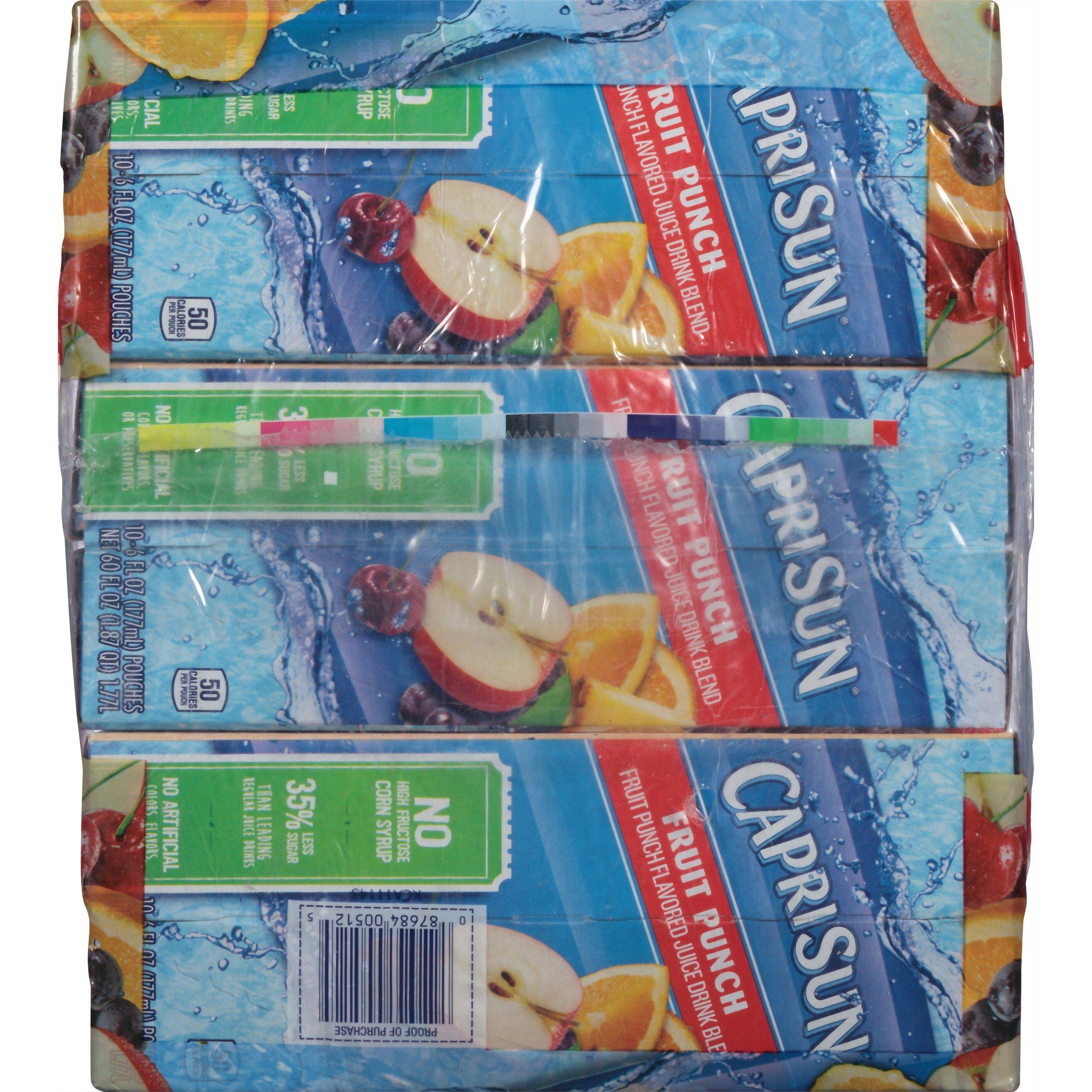 PACK OF 6 - Capri Sun Fruit Punch Juice Pouches, 30 count, 6 oz (177mL) by Capri Sun (Image #3)