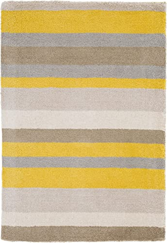 angelo HOME by Surya Madison Square MDS-1008 Transitional Hand Loomed 100 Wool Citrine 8 x 10 Geometric Area Rug