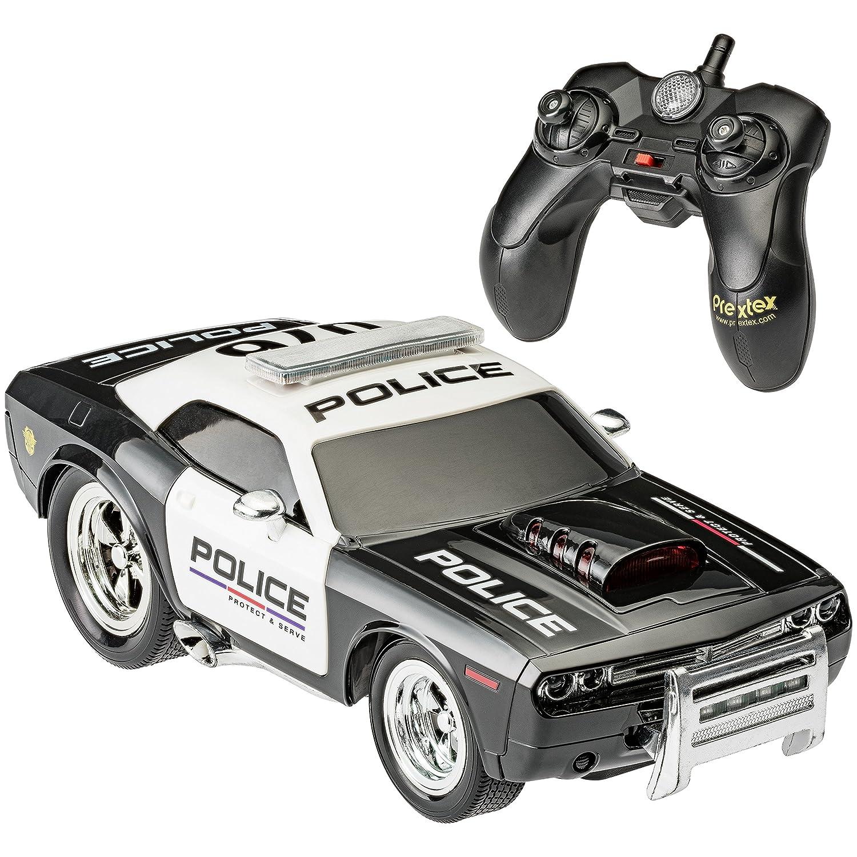Prextex RC Police Car Remote Control Police Car RC Toys Radio ...