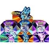 Pokémon POK80840-D6 TCG: V Forces Tin-Lucario V, Galarian Slowbro V eller Mew V (en slumpmässig), blandade färger