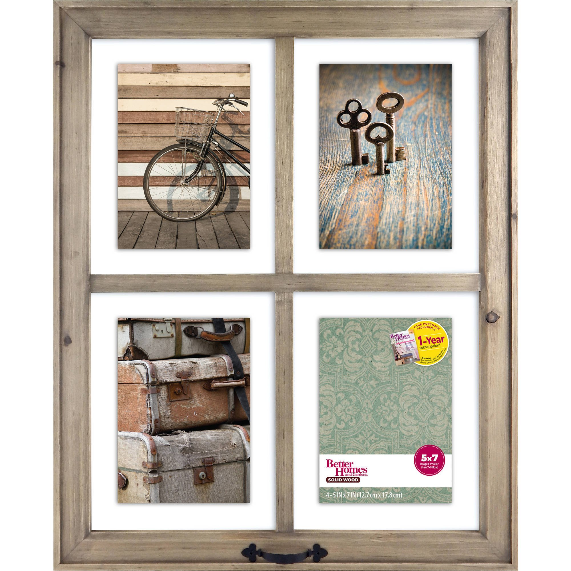 4-Opening Rustic Windowpane Collage Frame by Better Homes & Gardens*