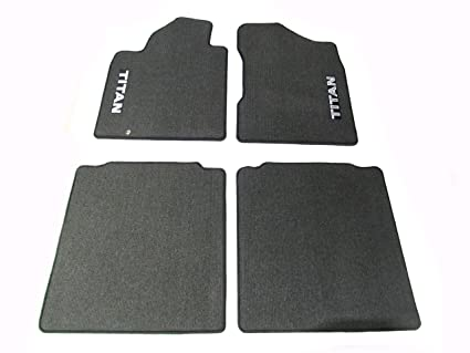 2004 2007 Nissan Titan King Cab Carpeted Floor Mats Set Of 4 Charcoal  GENUINE OEM