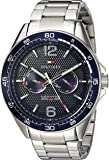 Tommy Hilfiger Men's Sophisticated Sport Quartz Watch with Stainless-Steel Strap, Silver, 22 (Model: 1791366)