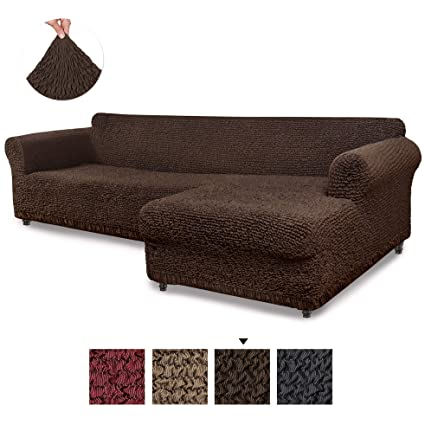 Fantastic Sectional Sofa Cover Sectional Couch Covers L Couch Cover Cotton Fabric Slipcovers 1 Piece Form Fit Stretch Furniture Slipcover Mille Righe Creativecarmelina Interior Chair Design Creativecarmelinacom