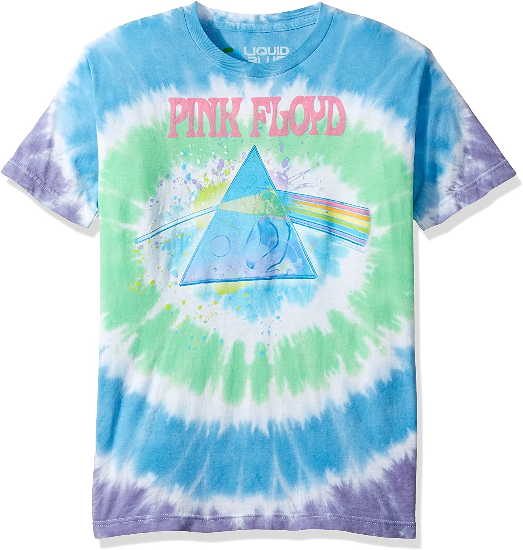 Mens pink tie-dye short sleeve T shirt Pink short style tie-dye t shirt LG