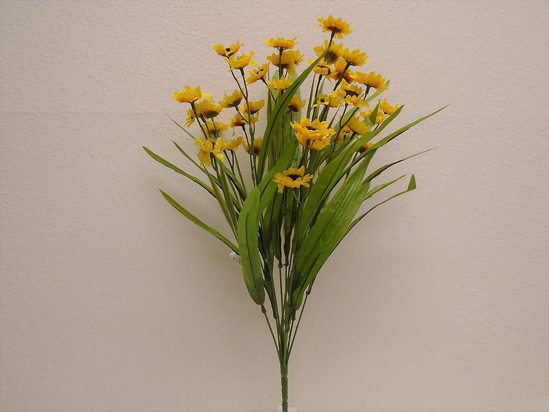 "YELLOW Sunflowers Bush Satin Artificial Flowers 19/"" Bouquet 11-4664 YL"
