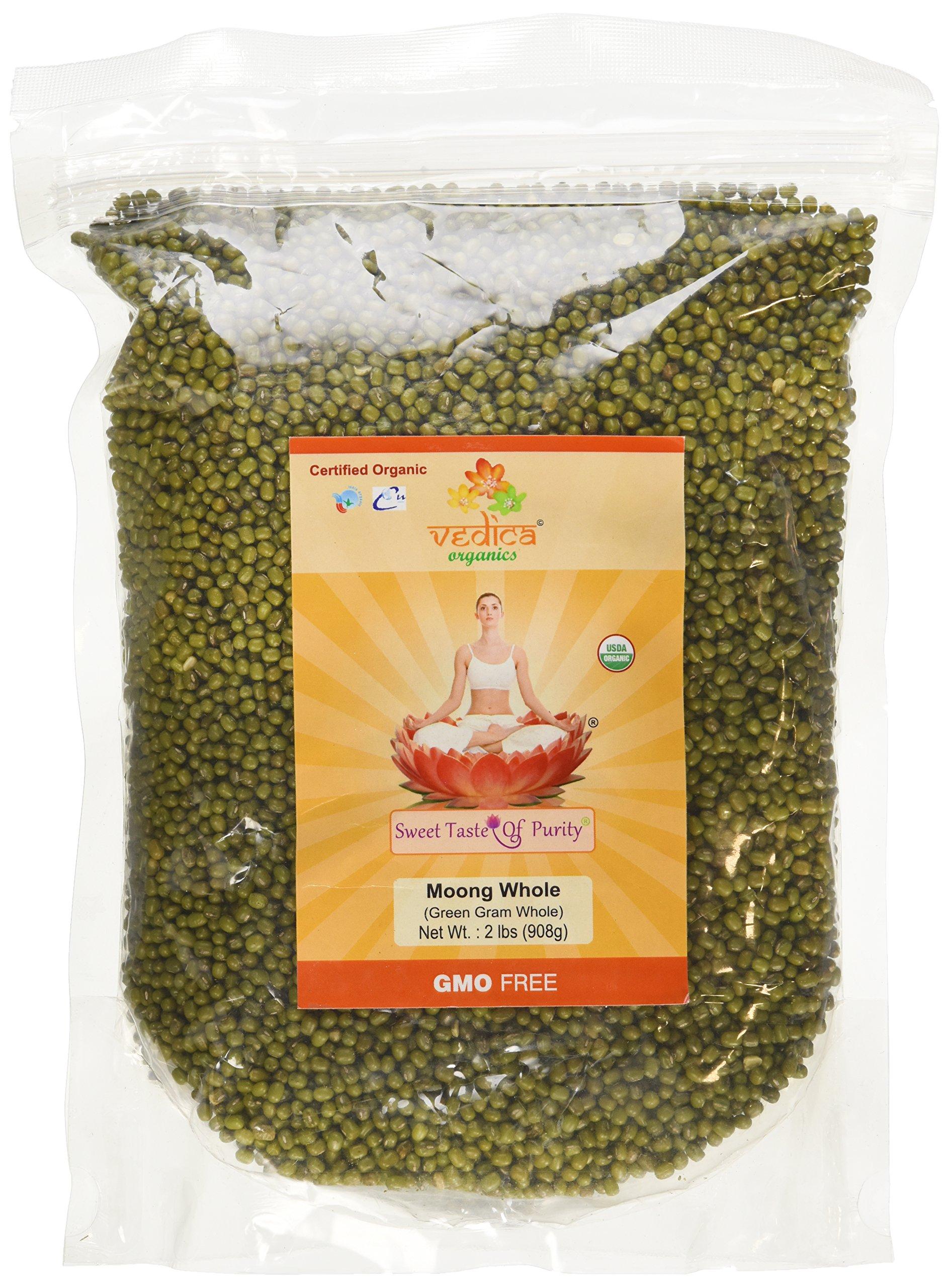 Organic Moong Whole (Green Gram Whole/Green Moong Dal) (2 Lbs
