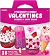 Kangaroo Strawberry & Cherry Valentine's Scratch and Sniff Cards (28-Count)